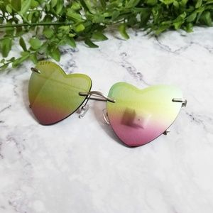 DIFF | Remy Pastel Rainbow Heart Shaped Sunglasses